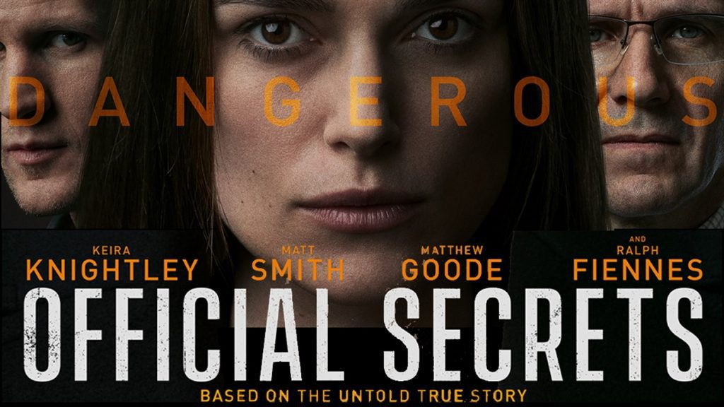 Join us for a FREE Screening of Official Secrets | Melvin A. Goodman